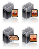 Design Elements 51h. Internet Computer and Software Icons Set are a high resolution image with CLIPPING PATH for easy remove unwanted shadows underneath Stock Image
