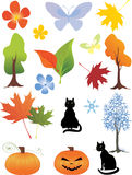 Design elements. Different color elements for design stock illustration