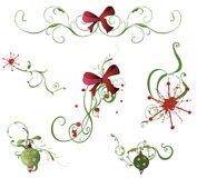 Design elements. Set of Christmas design elements Royalty Free Stock Image