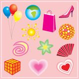 Design elements. Set of cute design elements Royalty Free Stock Photography