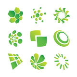 Design Elements. Set of green design elements Royalty Free Stock Photos