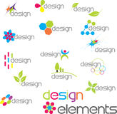 Design elements. Assorted Colourful Modern Design logo or design elements Royalty Free Stock Photo
