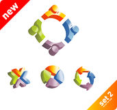 Design elements. 3d cubes Vector design elements Royalty Free Stock Photography