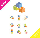 Design elements. 3d cubes Vector design elements Royalty Free Stock Photo