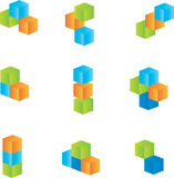 Design elements. 3d cubes Vector design elements Royalty Free Stock Photos