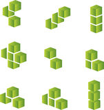 Design elements. 3d cubes Vector design elements Stock Photography