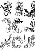 Design elements with abstract birds Royalty Free Stock Images