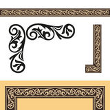 The design elements antique. Retro style picture frame. Vector Royalty Free Stock Photography