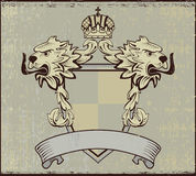 Design elements arms. Design of a vector background in vintage Stock Photo