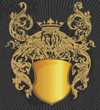 Design elements arms. Design of a vector background in vintage Royalty Free Stock Images
