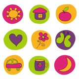 Design elements for babies Stock Images