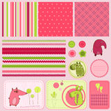Design elements for baby scrapbook Stock Images