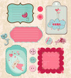 Design elements for baby scrapbook Royalty Free Stock Image