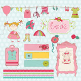 Design Elements for baby Scrapbook Royalty Free Stock Photo