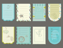 Design elements for baby scrapbook Stock Image