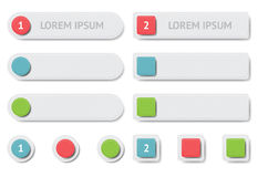 Design elements. Banners and buttons. EPS10 vector illustration Royalty Free Stock Photography