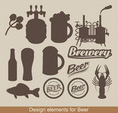 Design elements of beer Stock Photos