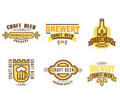 Design Elements for Beer House Stock Photos
