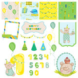 Design Elements - Birthday Baby Bear Stock Photography