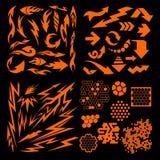 Design elements on black background - vector big Stock Photography
