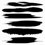 Design elements of black banners Graffiti collection Stock Photo