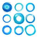 Design elements in blue colors icons. Set 5 Royalty Free Stock Photos