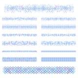 Design elements - blue divider line set. Design elements - blue square text divider line set Royalty Free Stock Photo