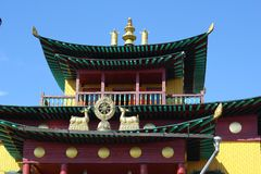 Design elements of Buddhist temple Stock Photos