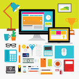 Design Elements for Business Office Workplace Stock Photo