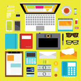 Design Elements for Business Office Workplace Royalty Free Stock Photography