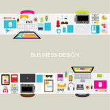 Design Elements for Business Office Workplace Stock Photography
