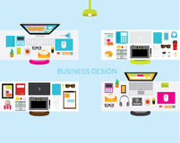 Design Elements for Business Office Workplace Royalty Free Stock Photos