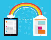 Design Elements for Business Social Networking Stock Images