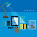 Design Elements for Business Social Networking Stock Photography