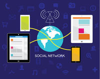 Design Elements for Business Social Networking Royalty Free Stock Photos