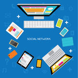 Design Elements for Business Social Networking Royalty Free Stock Photo
