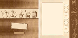 Design elements for a cafe Stock Image