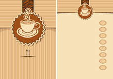 Design elements for a cafe Royalty Free Stock Photography