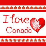 Design elements for Canada Day first of July. Vector stock illustration