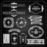 Design elements chalk texture Royalty Free Stock Image