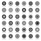 Design elements in circle and floral shape. Stock Photography