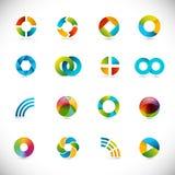 Design elements - circles. Set of design elements - corporate symbols - circles Vector Illustration