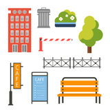Design Elements for City Illustration or Map Stock Photography