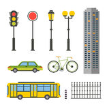 Design Elements for City Illustration or Map Stock Photo