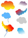 Design elements of cloud set Stock Photos