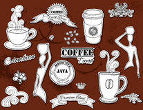 Design elements: Coffee Stock Image