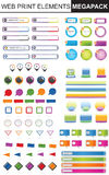 Design Elements Colection. Design elements ,more than 100 individual elements for web print or presentations Stock Illustration