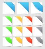Design elements: corners Stock Image