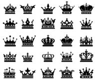 Royal crown silhouettes royalty free illustration