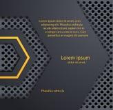 Design elements of dark metal. Vector Design elements of dark metal stock illustration